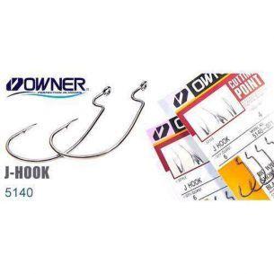 Carlige Offset Owner J-Hooks 5140 nr.4/0 (5buc)