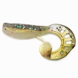 Profiblinker Grub Zandertail Alb Perlat/Negru 5cm (5buc)