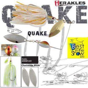 Colmic Herakles Spinnerbait Quake Chartreuse/White 17.5g