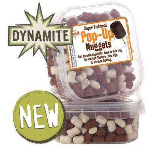 Dumbells Feeder Super Fishmeal Pop-Up Nuggets White Brown