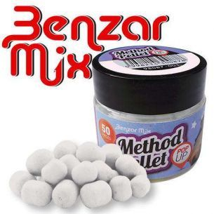 Pelete Benzar Mix Method Pellet Pop Up Squid&Prune Alb 50buc