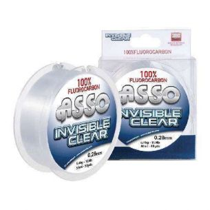 Asso Fluorocarbon Invisible Clear 0,19mm 50m