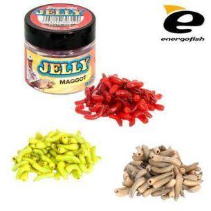 Viermusi Benzar Jelly Baits Maggot Alb (100buc)