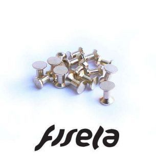 Ochi Dublii din Cupru 50buc 6.5mm Gold