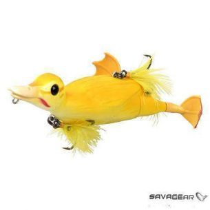 Naluca Stiuca Rata Savage Gear 3D Suicide Duck Yellow 10.5cm 28g