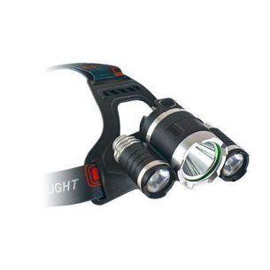 Lanterna Cap ET Outdoor Saturnus 3LEDuri 2000Lumeni 2 Acumulatori