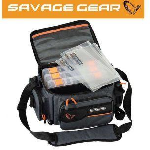 Geanta Savage Gear M 20x40x29cm + 3 Cutii