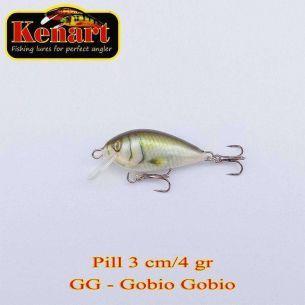 Vobler Kenart Pill Sinking Gobio Gobio 3cm 4g