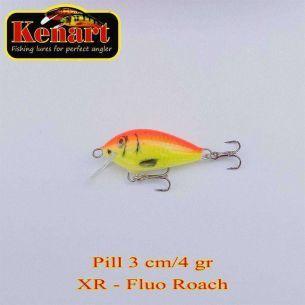 Vobler Kenart Pill Sinking Fluo Roach 3cm 4g