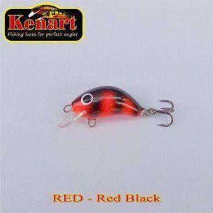 Vobler Kenart Hunter Red Black 3cm 3g