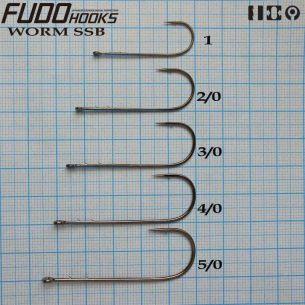 Jig Articulat Fudo Worm SSB cu spini Nr.2/0 14g (5buc)