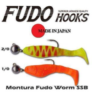 Jig Articulat Fudo Worm SSB cu spini Nr.2/0 18g (5buc)