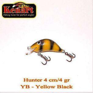 Vobler Kenart Hunter Yellow Black 4cm 4g