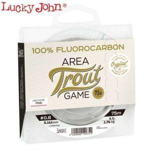 Fir Fluorocarbon Lucky John Trout Area Game 75m (Roz) 0.25mm