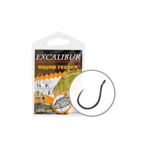 Carlige Excalibur Round Feeder Barbless nr.18 (8buc)