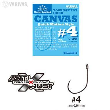 Carlige Trout Area Varivas Super Tournament Canvas nr.4 15buc Varivas