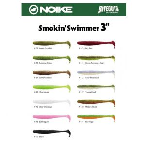 Noike Smokin' Swimmer 7.6cm (9buc/plic) Green Pumpkin