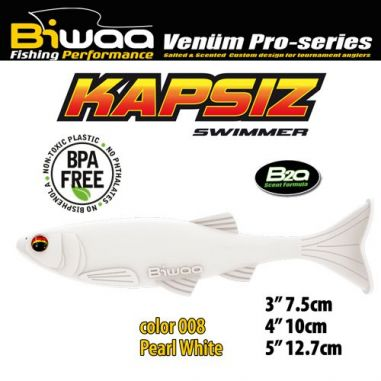 Shad Biwaa Kapsiz Pearl White 10cm (5buc)