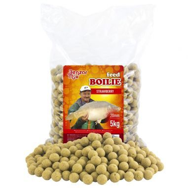 Benzar Mix Feed Boilies Strawberry 20mm 5kg