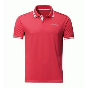 Tricou Shimano Polo Shirt Red Marime L