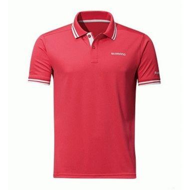 Tricou Shimano Polo Shirt Red Marime L