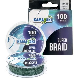 Fir Textil Kamasaki Super Braid 0.30mm 100m Verde 26.6kg