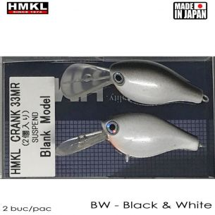 Vobler HMKL Crank 33 MR Suspend 3.3cm 3g Black White (2buc)