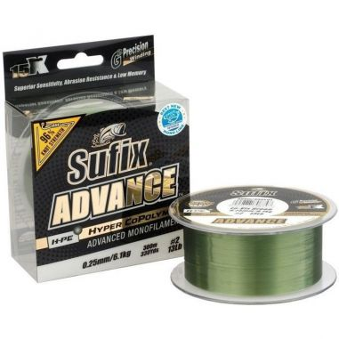 Fir Monofilament Sufix Advance Lo-Vis Green 0.18mm 300m