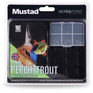 Kit Mustad Perch/Trout cu Cleste pentru Inele