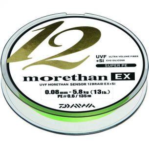 Fir Textil Daiwa Morethan X12 EX+SI Lime Green 0.12mm 135m