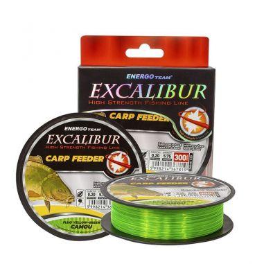 Fir EnergoTeam Excalibur Carp Feeder Fluo Galben-Verde Camou 0.18mm 300m