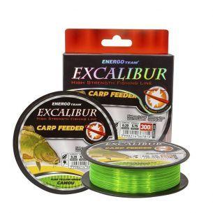 Fir EnergoTeam Excalibur Carp Feeder Fluo Galben-Verde Camou 0.30mm 300m