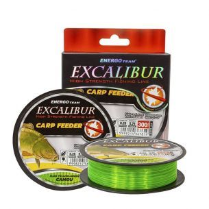 Fir EnergoTeam Excalibur Carp Feeder Fluo Galben-Verde Camou 0.35mm 300m