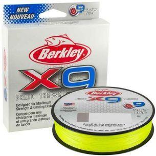 Fir Textil Berkley X9 Fluo Green 0.12mm 150m