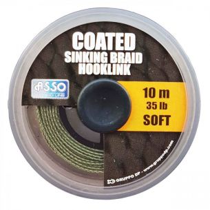 Fir Forfac Asso Coated Soft Sinking Braid Hooklink 25lb 10m