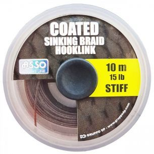 Fir Forfac Asso Coated Stiff Sinking Braid Hooklink 25lb 10m