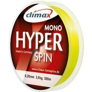 Fir Monofilament Climax Hyper Spin Fluo Yellow 0.30mm 150m 8.2kg