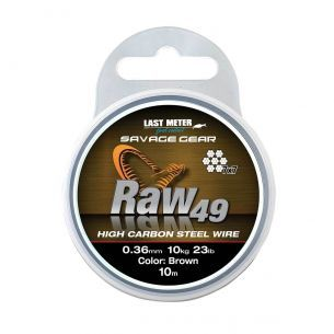 Struna Savage Gear 7x7 Raw49 Uncoated 0.54mm 10m 23kg
