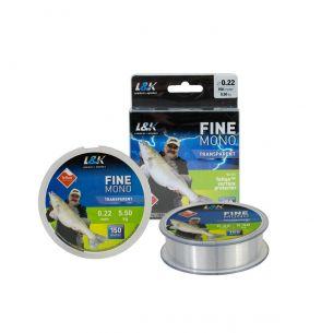 Fir Monofilament L&K Fine Mono Transparent 0.25mm 150m 6.8kg