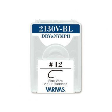 Carlige Varivas Fly 2130V-BL Dry Nymph Fine Barbless Nr.10 25buc