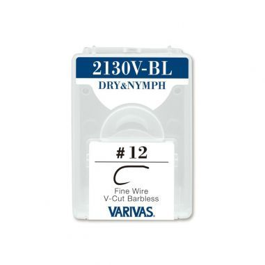 Carlige Varivas Fly 2130V-BL Dry Nymph Fine Barbless Nr.14 25buc