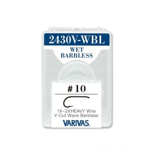 Carlige Varivas Fly 2430V-WBL Wet V-Cut Barbless 1x 2x Heavy Nr.14 25buc