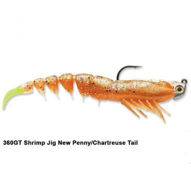 Creature Crevete Storm Costal Shrimp New Penny Chartreuse Tail 8cm 3.5g 4buc