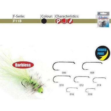 Carlige Gamakatsu Pentru Muste F11B BL nr.12 Fara Spin 25buc