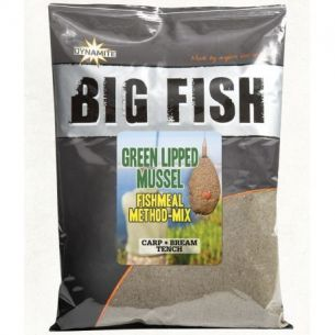 Nada Feeder Dynamite Baits Big Fish Feed Green Lipped Mussel Method Mix 1.8kg