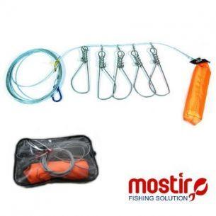 Set 5 Agrafe Metalice Cablu Otel Pastrare Stiuca/Salau