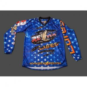 Bluza Oficiala Competitie Relax Lures USA Stars Zander Blue XL