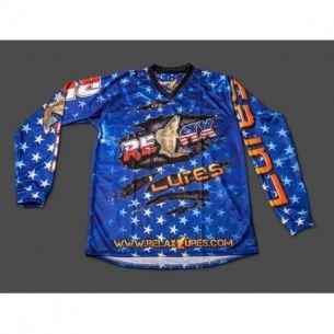 Bluza Oficiala Competitie Relax Lures USA Stars Zander Blue XXL