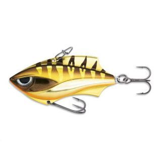 Cicada Rapala Rap-V Blade Gold Chrome Tiger 6cm 14g