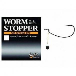 Opritor Offset Worm Stopper Varivas LL Pentru Carlige Mai Mari 4/0 15buc